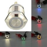 DC12V12mm4-pinMomentarySwitch Led Light Metaal drukknop Waterproof Switch
