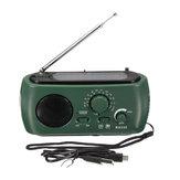 Динамо-генератор FM / AM Солнечная Кран-привод Радио с зарядным устройством для фонарика