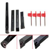12pcs Internal Lathes 12mm Boring Bar Turning Tool Holder with Blades and Wrenches for CNC Machine