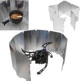IPRee Plaques de Camping en Aluminium Pliables Poêle BBQ Bouclier de Vent