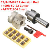 C3/4-FMB22 Shank Extension Rod 400R-50-22 Face End Mill Cutter With 10Pcs APMT1604 Inserts