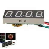 DC 7-30V Digital LED Clock For Car Truck Motorcycle Motor 24 Hour Time