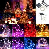13M 120LED Outdoor Solar Power Sliver String Fairy Light Wedding Party Xmas Garden Lamp IP67
