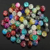 80pcs 8 milímetros de cristal de crack esferas de vidro solta espaçador misturado cor