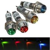 8mm 12V LED Dashboard Warning Indicator Signal Light Lamp