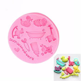 Cute Silicone Fondant Mold Cake Decorating Mould Gum Paste Sugarpaste Mold FDA LFGB