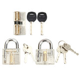 3Pcs Transparent Cutaway Inside View Of Practice Padlock Locksmith Practice Training Skill Set Lock Picks