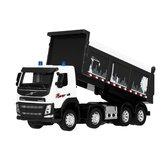 Original Ingeniería Coche Sonido y luz 1:50 Escala Diecast Model Dump Truck Toy
