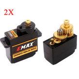 2X EMAX ES08MA II Servo Analogique de Mini Engrenage Métallique de 12g pour Modèle RC