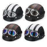 Moto Scooter Demi Casque Chapeau Visière Ouverte Bouclier Avec Sun UV Lunettes Pour Harley