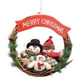 Original GuirnaldaderatándeNavidadpared puerta decoraciones Santa Claus muñeco de nieve oso guirnalda