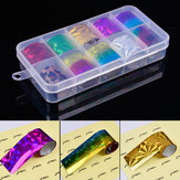 10 Colors Starry Nail Foils Set Shiny Glitter Nail Sticker