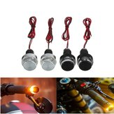 2PCS Motorcycle Handlebar LED Turn Signal Grip Bar End Amber Lights