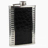 9oz Leather Stainless Steel Hip Flask Liquor Alcohol Drink Whisky Pocket Bottle