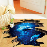 Miico Creative 3D Deep Sea Dolphin Removable Home Room Decorative Wall Floor Decor Sticker