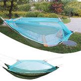 HamacaalairelibrecámpingColumpio Cama portátil Cama para dormir Carga máxima 150 kg con mosquitera