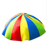 2m Child Outdoor Rainbow Umbrella Parachute Toy Kindergarten Parent-Child Umbrella Rally