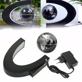 C shape LED World Map Magnetic Levitation Floating Globe Light Home Decoration