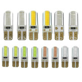 Pair T10 W5W 6W 250LM 2COB Car LED Side Marker Lights Bulb Turn Lamp Seven Colors Bulb