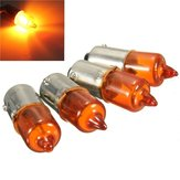 4pcs 12V 23w Motorcycle Turn Singal Indicator Bulb BA9S Base Mini Amber Halogen
