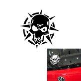 Barbed Skull Car Sticker Reflective Devil Totem Decal for Car Body Door 14*14cm