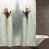 Halloween Horror Blood Bath Polyester Shower Curtain Bathroom Decor with 12 Hooks