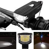 Original XANESBL04550LM3modosde carga USB 1200mAh litio Batería Impermeable luz de bicicleta con 120db cuerno