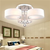 E27 Modern 3 Heads Crystal LED Ceiling Light Pendant Lights with Remote Controler