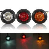 Universal rojo/ámbar/blanco lateral marcador LED lámpara para coche 12v/24v van camión semi-remolque