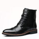 Men Brogue Mid-calf Boots