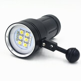 A11 100M Underwater 20000Lumens 6xXHP90 4xRed 4xPurple Diving Photography Video Light