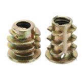 50Pcs M4 Zinc Alloy Wood Furniture Hex Socket Drive Head Screw-in Threaded Insert Nut