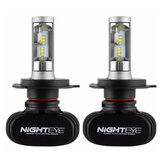 NIGHTEYE 50W 8000LM Car LED Headlights Front Fog Lamps Bulbs H4 H7 H11 9005 9006 9-32V 6500K