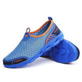 Men Sport Shoes Slip-on Hiking Water Antiskid Light Hollow Out Casual In Mesh Loafers Sandals