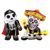 Soft Halloween Stuffed Plush Toy Dancing Skeleton Electric Doll With Music