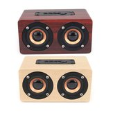 W5 Wireless Bluetooth Dual Speaker Wooden Speaker