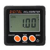 0.05 Nivel de burbuja Inclinómetro digital Indicador de ángulo del transportador Indicador del medidor Bisel