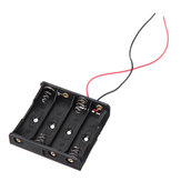 5pcs DIY 6V 4-Slot / 4 x AA Battery Holder With Leads