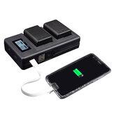 Palo FW50-C USB chargeur rechargeable Batterie banque de puissance de téléphone portable pour Sony NP-FW50 DSLR appareil photo Batterie avec indicateur LED