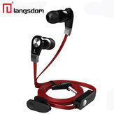 Langdom JM02 Super Bass Sound 3.5mm In-ear Earphone With Mic Remote Control For Iphone Samsung HTC