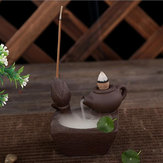 Original Chinese Style Backflow Incense Cone Burner Teapot Home Fragrant Stick Holder Ceremony Feng Shui