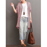 Women Irregular Long Sleeve Cotton Linen Shirt