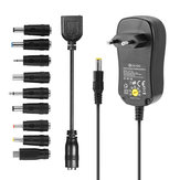 Digoo DG-UA10 3-12V Universal 10 Selectable Charger Adapter Multi Voltage Switching Micro USB Plug Power Supply