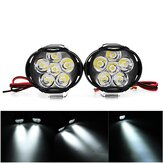 2PCS 9-85V 1000lm 10W Motorcycle Spotlight Motor Bike Headlamp Bicycle Scooter ATV Headlight