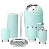 6Set Bathroom Cleaning Brushes Toothbrush Holders Soap Dishes Cup Bin Sprayer Bottles Toilet Brushes