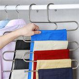 S Тип Одежда Брюки Брюки Вешалка Многослойные шкафы для хранения Стойка для хранения столов из нержавеющей стали
