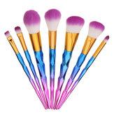 7pcs Makeup Brushes Kit Set Soft Foundation Powder Blush Blend Lip Eye Liner Cosmetics Tool