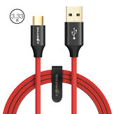 BlitzWolf® AmpCore Turbo BW-TC9 3A Braided Durable USB 3.0 to Type-C Charging Data Cable 3.33ft/1m