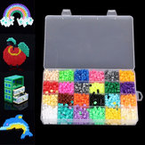 2400pcs Хама Perler бусины 5мм 24 цветов Дети детей поделки ремесленных образовательный
