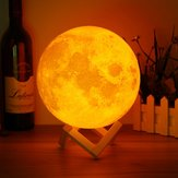 18cm Magical Two Tone Moon Table Lamp USB Rechargeable Luna LED Night Light Touch Sensor Gift